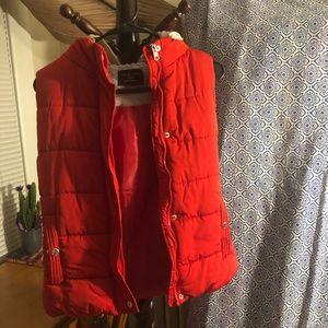 Love Tree Juniors Button/Zip Hooded Vest